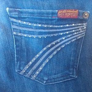 7fam rhinestone dojo jeans